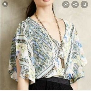 Anthropologie/ maeve Miyah flutter blouse